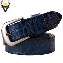 Genuine leather belts for women Fashion Pin buckle woman belt High quality second layer cow skin