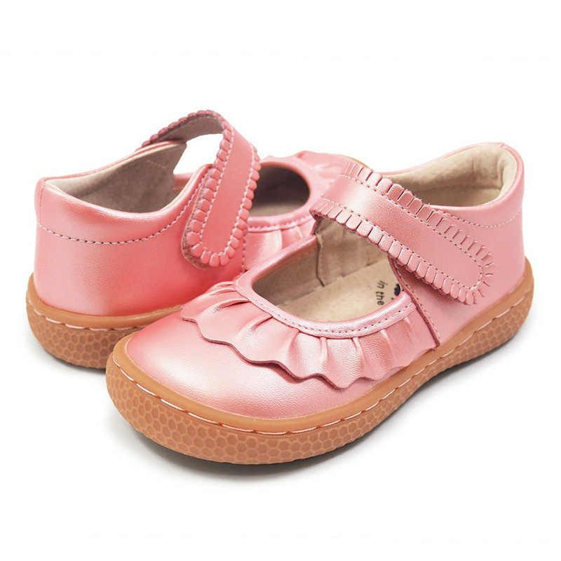 Tipsietoes Kids 2019 Toddler Genuine Leather  Shoe Girl  Sneaker  Child Causal  Barefoot Fashion Free ship