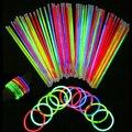 50 Unids Glow Sticks Pulseras Collares de Neón Fluorescente Del Partido de La Boda Calcomanía