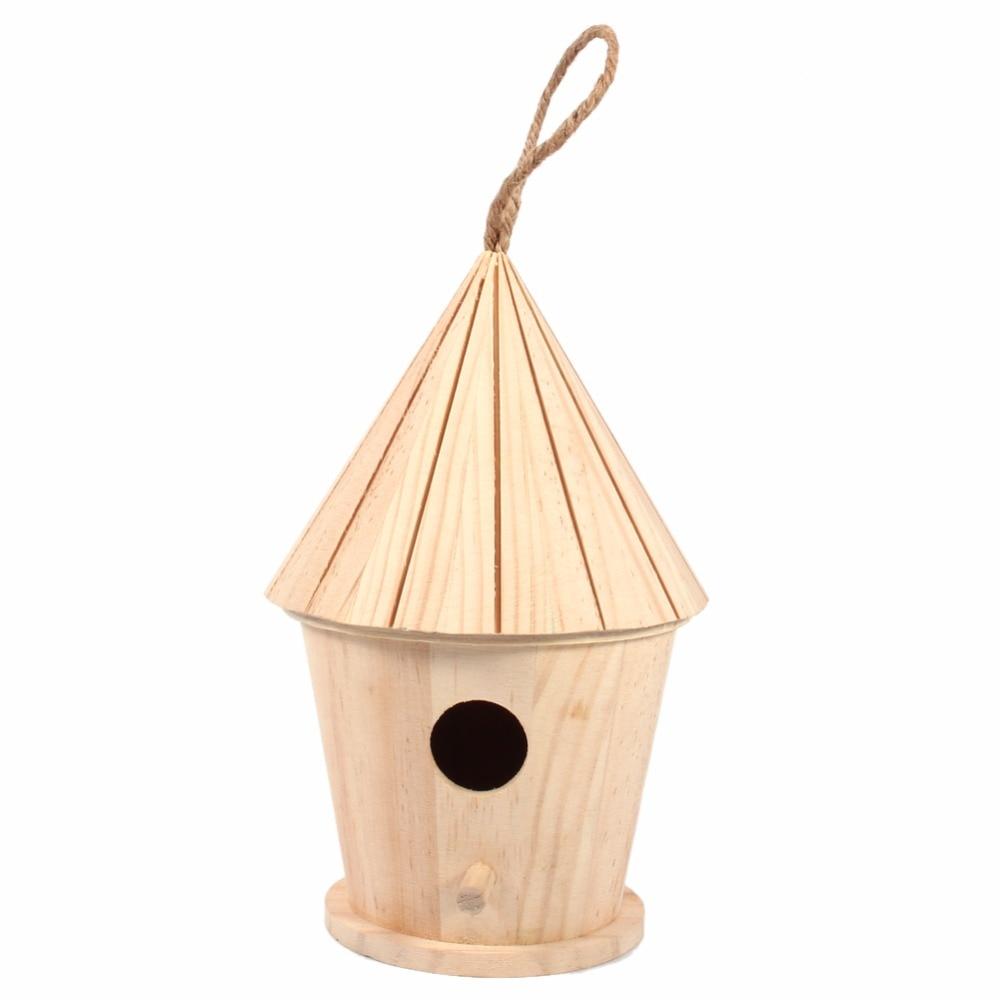 Wooden DIY Bird House Mini Birdhouse Decoration Hanging Christmas ...