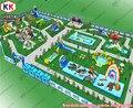 Гигантские Коммерческие Надувные Водные Парки Съемный С Стальная Рама Бассейнов