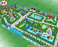 Giant Commercial Inflatable Water Parks Removable With Steel Frame Pools