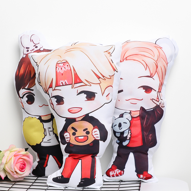 cute hot sale bts plush pillow army mat bt21 doll sofa cushion k pop stuffed