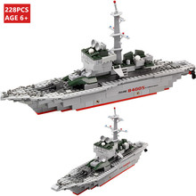 цена на KAZI 84005 Military Ship Building Blocks Kids Toys Weapon Equipment Technic Designer compatible with legoe city  Christmas gifts
