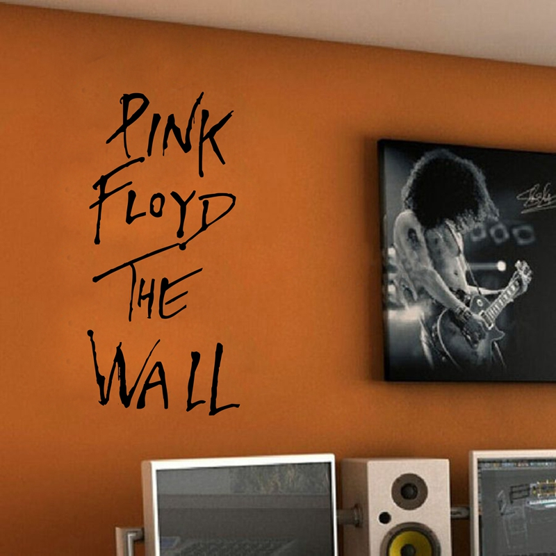 PINK FLOYD THE WALL Art Vinyl Wall Decal ,Classic rock music lyrics decal sticker for home or The bar decor ,free shipping m2047