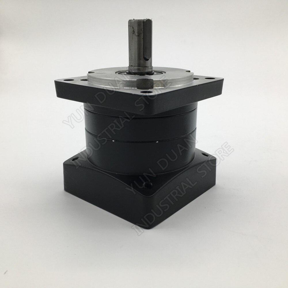 6:1 Ratio 80mm Nema32  Planetary Gearbox Speed Reducer Shaft 19mm Carbon Steel Gear for Servo Stepper Motor6:1 Ratio 80mm Nema32  Planetary Gearbox Speed Reducer Shaft 19mm Carbon Steel Gear for Servo Stepper Motor