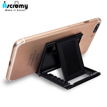 Ascromy Universal Cell Phone Stand Holder For iPhone XS Max 8 Samsung S8 Xiaomi iPad Tablet Mount Cradle telefon tutucu soporte(China)
