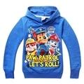 Boy sudaderas con capucha de la muchacha perro pata patrulla ropa camisetas de los niños para niños suéter del algodón del perrito de la historieta chilren patrulla clothing