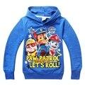 Patrulha da pata do cão hoodies da menina do menino roupas miúdos dos desenhos animados pulôver de algodão das crianças camisolas para chilren patrulha cachorro clothing