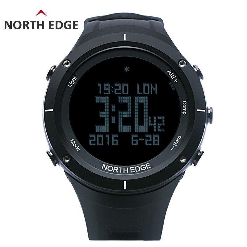 Северная режущая кромка для мужчин Спорт цифровые часы часов сердечного ритма Бег водонепроницаемые часы альтиметр барометр компасы термо...