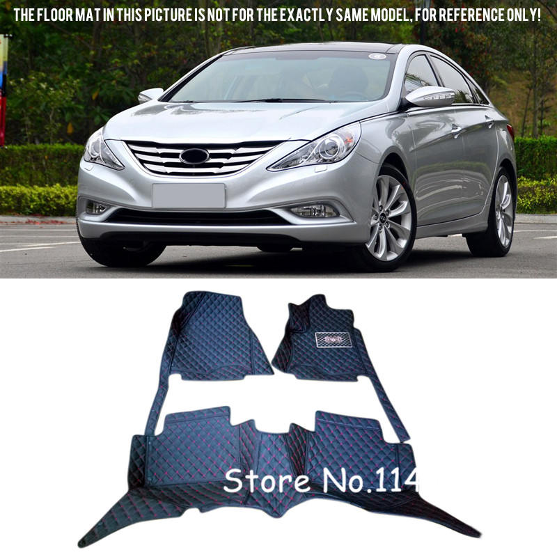 For Hyundai Sonata i45 2011 2012 2013 2014 Waterproof Special Auto Custom Car Floor Mats Carpets Full Set