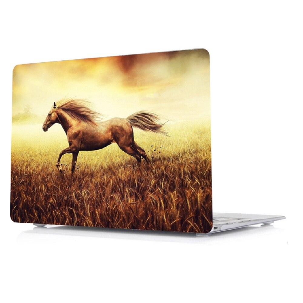 עבור apple קשיח ניידת הדפסת 3in1 Case מעטפת + מקלדת הכיסוי + מסך הקולנוע עבור Apple MacBook Air Pro Retina Touch בר & ID 11 12 13 15 אינץ (4)
