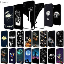 Lavaza Newest Space Moon Astronaut Soft Case for Apple iPhone 6 6S 7 8 Plus 5 5S SE X XS MAX XR TPU Cover new brand simple style hot bags women messenger bags ladies bucket bag pu leather crossbody shoulder bag