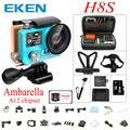 Origianl EKEN H8S Wi-fi Câmera de Ação Real 4 K A12S75 Esporte DV 30FPS Ambarella FHD 2.4G controle remoto Dupla cor Da Tela