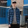 VIISHOW Camisa Xadrez Men Slim Fit Manga Comprida Camisa Dos Homens Streetwear Oversized Camisa Dos Homens Vestido de Marca Camisas De Algodão Casuais Para homens