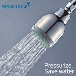Free shipping rain shower head wall mounted head pressurized water saving abs with chrome plated overhead.jpg 250x250