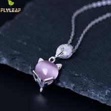 Flyleaf 100% Стерлинговое Серебро 925 пробы опал лиса ожерелья