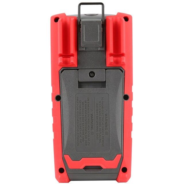 Multímetro profesional UT191T de UNI-T; multímetro digital resistente al agua/polvo con valores eficaces verdaderos IP65, medición de temperatura/voltaje LoZ