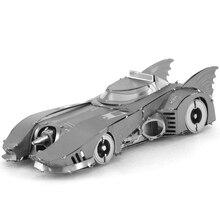 Batmen 1989 Batmobile Fun 3D Metal DIY Miniature Model Kits Puzzle Toys Children Educational Boy Splicing Science Hobby Building