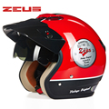 ZEUS 381C 3/4 шлем мотоциклетный полушлем Ретро Мото шлем скутер Capacete с открытым лицом с солнцезащитными очками велосипедный шлем