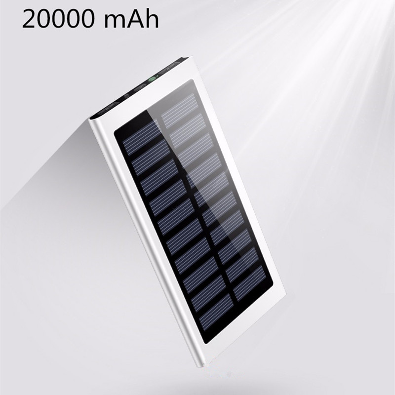 Original 20000 mAh Tragbare Solar Power Bank tragbare solar-ladegerät Universa Backup Power Externe Handy-akku