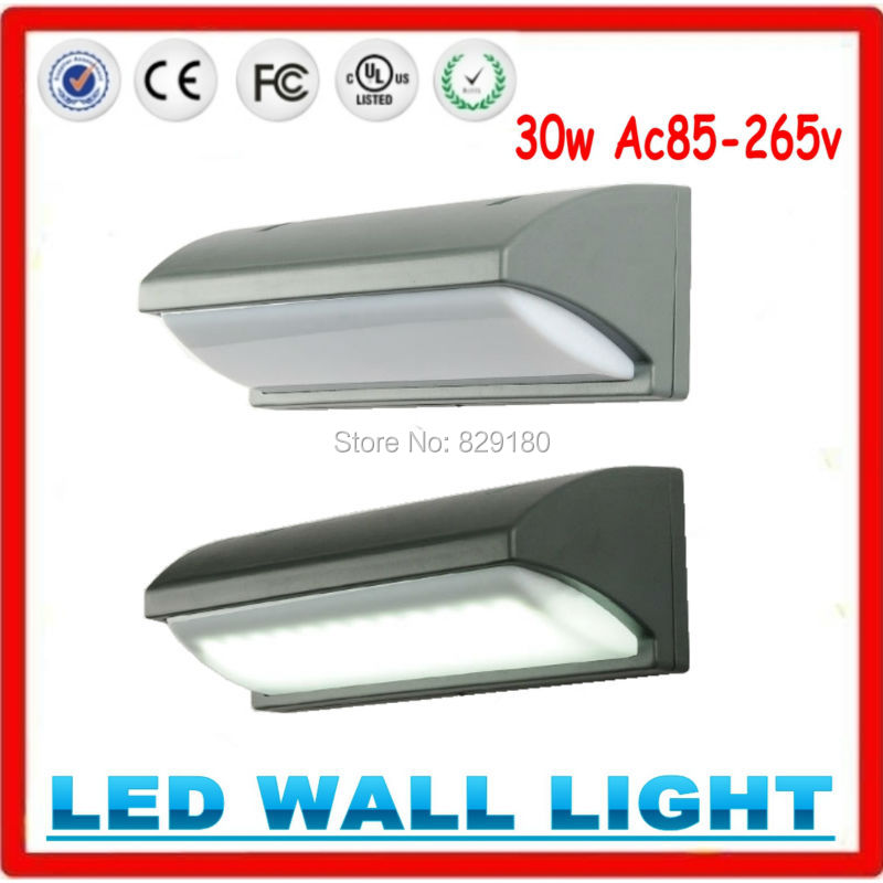 10pcs 30w Led Wall Light Outdoor Waterproof Wall Lamp LED Lighting Light Wall Sconce Garden Lights AC85-265V 6w 1 new product 2pcs lot ac 85 265v outdoor stone wall lighting led lamp hot sale led waterproof outdoor wall lamp