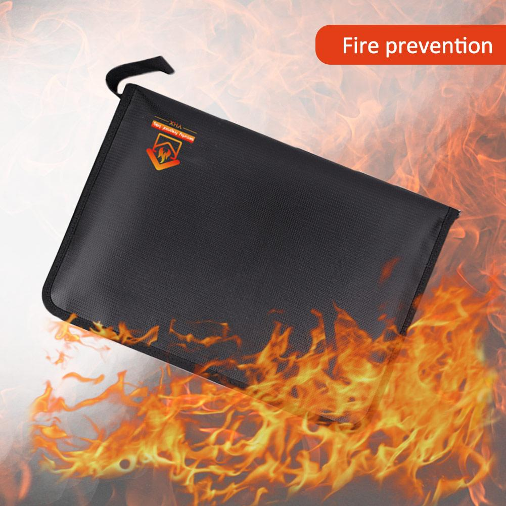 Fireproof Expanding File Folder Document Bag Water & Fire Resistant Silicone Coated Accordion Expandable File Organizer Pouch
