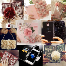 Book 3D Rose Flower Series Wallet Flip Leather Case Cover Pouch Bag For Samsung Galaxy S6 S6 edge / Plus S7 S7 edge Note 4 Note5 mooncase samsung galaxy note 4 edge чехол для view leather flip pouch bracket back cover pink