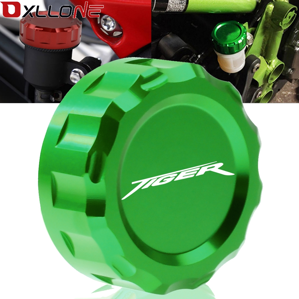 Motorcycle Aluminum CNC Motorbike Rear Cylinder Reservoir Cover Brake Master Fluid Cap For TRIUMPH TIGER 800 2011 2012  2014-in Covers & Ornamental Mouldings from Automobiles & Motorcycles