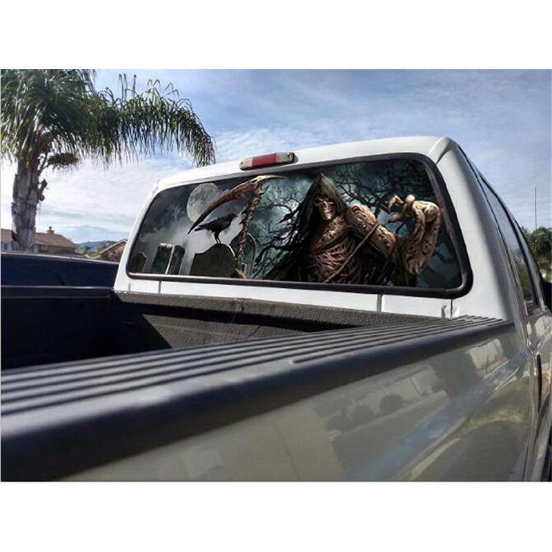 Grim Reaper Cemetery Graphic Decal Vinyl Sticker Decor For Car Truck Rear Window