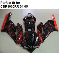 Injection molding fairing body kit for Honda CBR1000RR 2004 2005 red black motorcycle fairings set CBR 1000RR 04 05 IT17