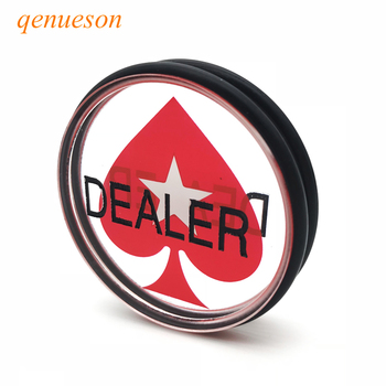 Baccarat 1PC 3inch Acrylic Pressing Texas Holdem Poker Cards Guard Poker Dealer Button Acrylic Hearts Rubber Ring DEALE qenueson dhl free shipping small blind poker coin poker cards guard protector metal token coin 40 3mm