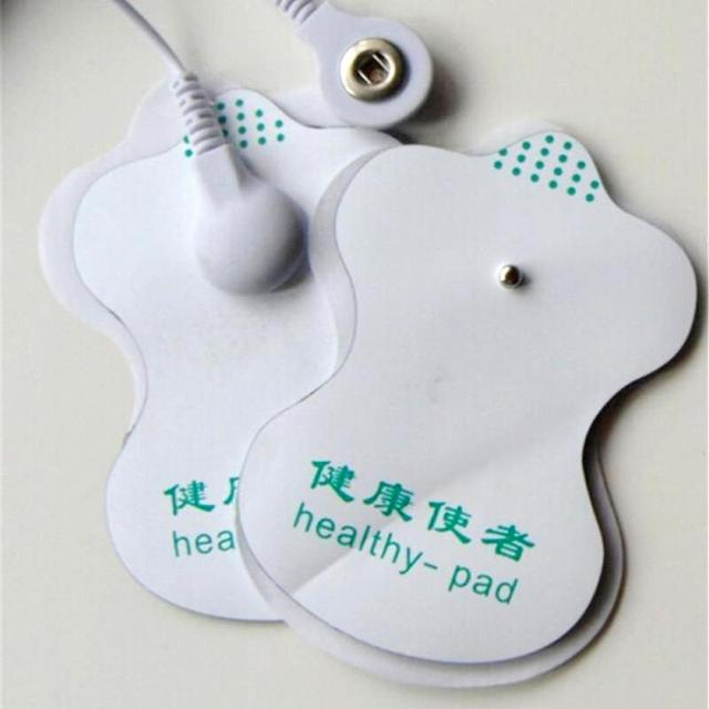 10pcs White Electrode Pads Digital Meridian instrument Acupuncture Therapy Machine Relaxation Connector for Slimming Massager C3 4