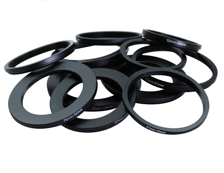 77-67mm 67-58mm 67-52mm 67-49mm 62-55mm 62-52mm 62-49mm 62-60mm 59-55mm Metal Step Down Rings Lens Adapter Filter