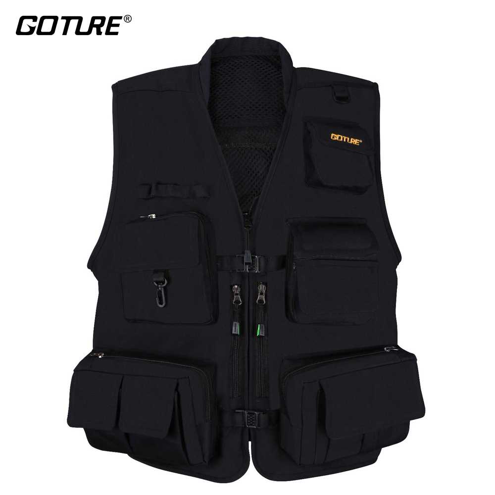 Goture Men Fly Fishing Vest Fishing Waistcoat Ice Vest Life Jacket For Winter Trout Fishing Black Color Size L XL XXLGoture Men Fly Fishing Vest Fishing Waistcoat Ice Vest Life Jacket For Winter Trout Fishing Black Color Size L XL XXL