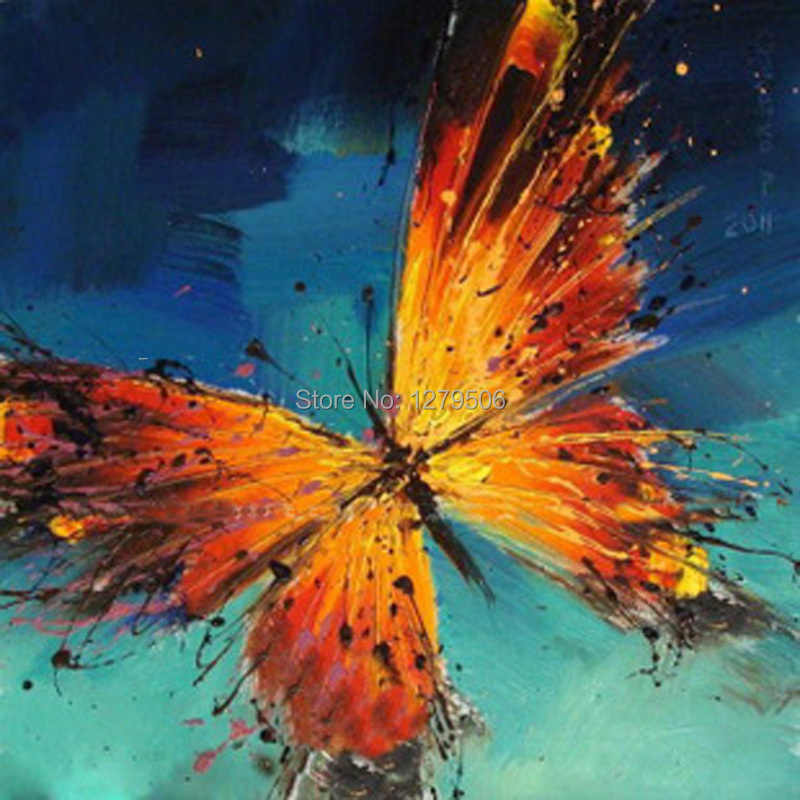 100% ручная роспись, бесплатная доставка, современное искусство, красивый нож-бабочка, картина маслом для домашнего декора, абстрактная картина