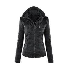 2019 fashion Women hoodies Winter Moto Jacket Hot Turn Down Collor Ladies Outerw