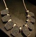 XL073 Frete Grátis Moer Arenosa Geometria Colar de Cristal Clavícula Gargantilha agradável Do Vintage Jóias Da Moda Para As Mulheres