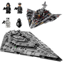 The First order Star Destroyer Set Building Blocks Bricks Toy 1457Pcs Compatible With Legoings Star Wars(China)