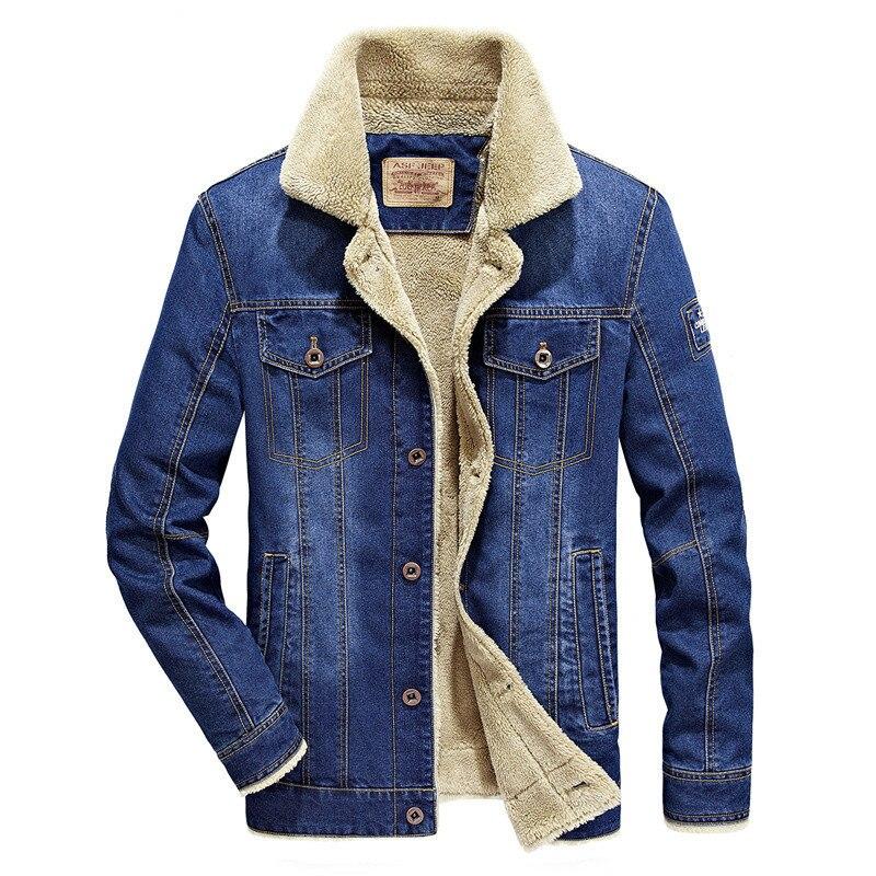 Image 2 - BOLUBAO Winter Men Denim Jackets Coat New Men's Street Trend Jackets Male Brand Plus Velvet Thickening Denim Jacket Coats-in Jackets from Men's Clothing