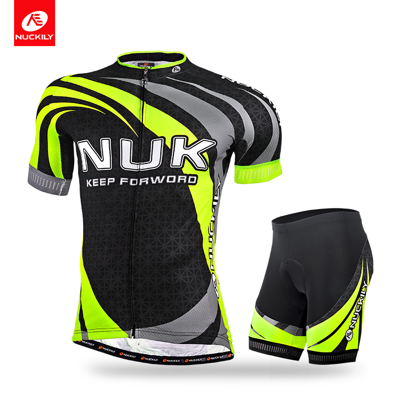 ФОТО Nuckily short sleeve jersey and cycling foam pad short summer anti-UV set for men MA014MB014