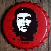 40cm Che Guevara Bottle Cap Vintage Home Decor Tin Sign Bar Wall Decor Metal Sign 3D Wall Decor Metal Plaque Metal Poster