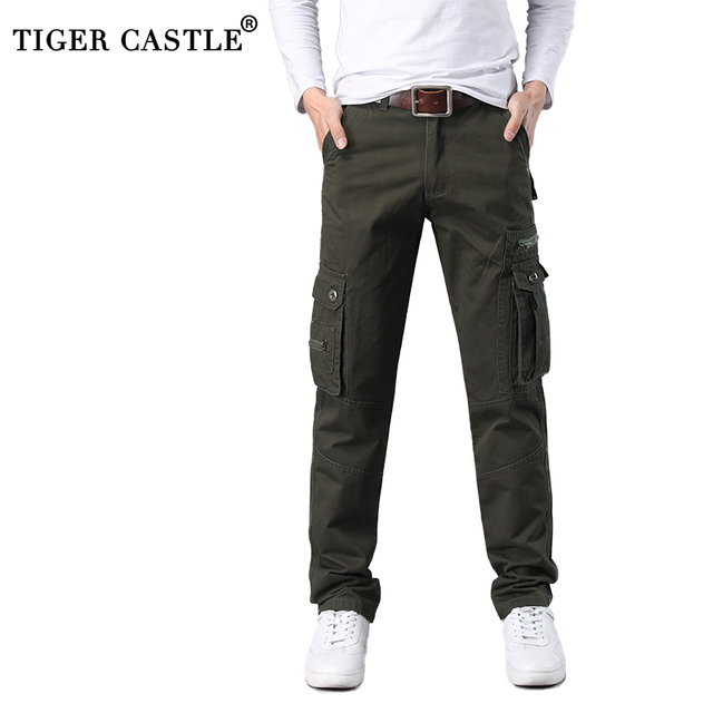 41c6969c1ee 2018 Mens Cotton Tactical Pants Multi Pocket Male Work Pants Autumn Summer  High Quality Track Pants Casual Army Long Trousers