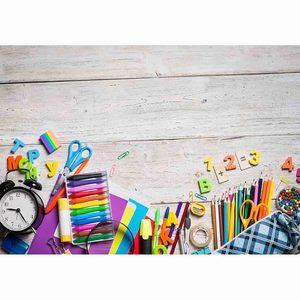 Image 2 - Funnytree خلفية خلفية العودة إلى المدرسة التعليم الابتدائي الخشب جدار الفنان حلم الملونة التصوير صورة الدعامة