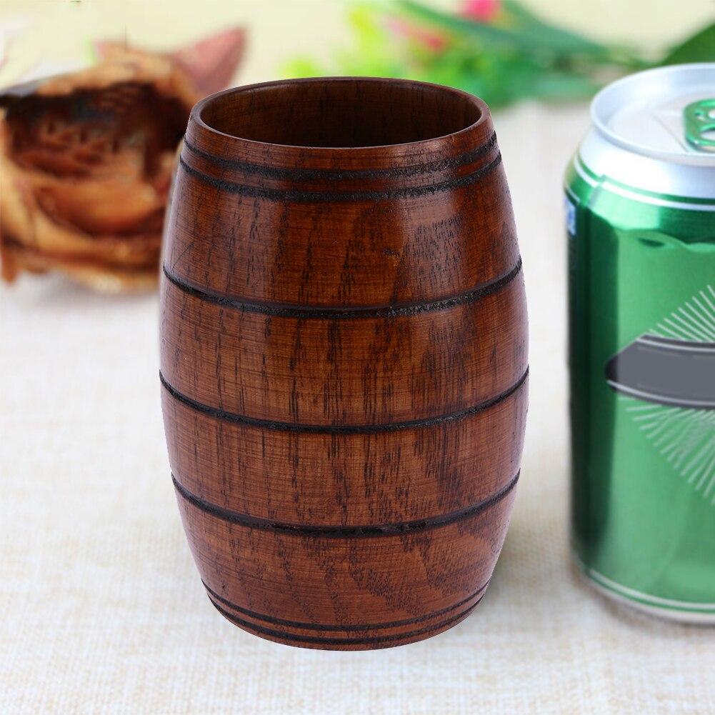 Natural Classical Handcrafted Wood <font><b>Cup</b></font> Jujube Big Belly Beer Coffee <font><b>Tea</b></font> Milk Juice <font><b>Cup</b></font> Tumbler Teacup Healthy Drink ware