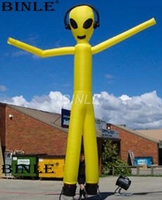 Most popular outdoor yellow Alien inflatable air dancer sky puppet tube man for halloween decoration
