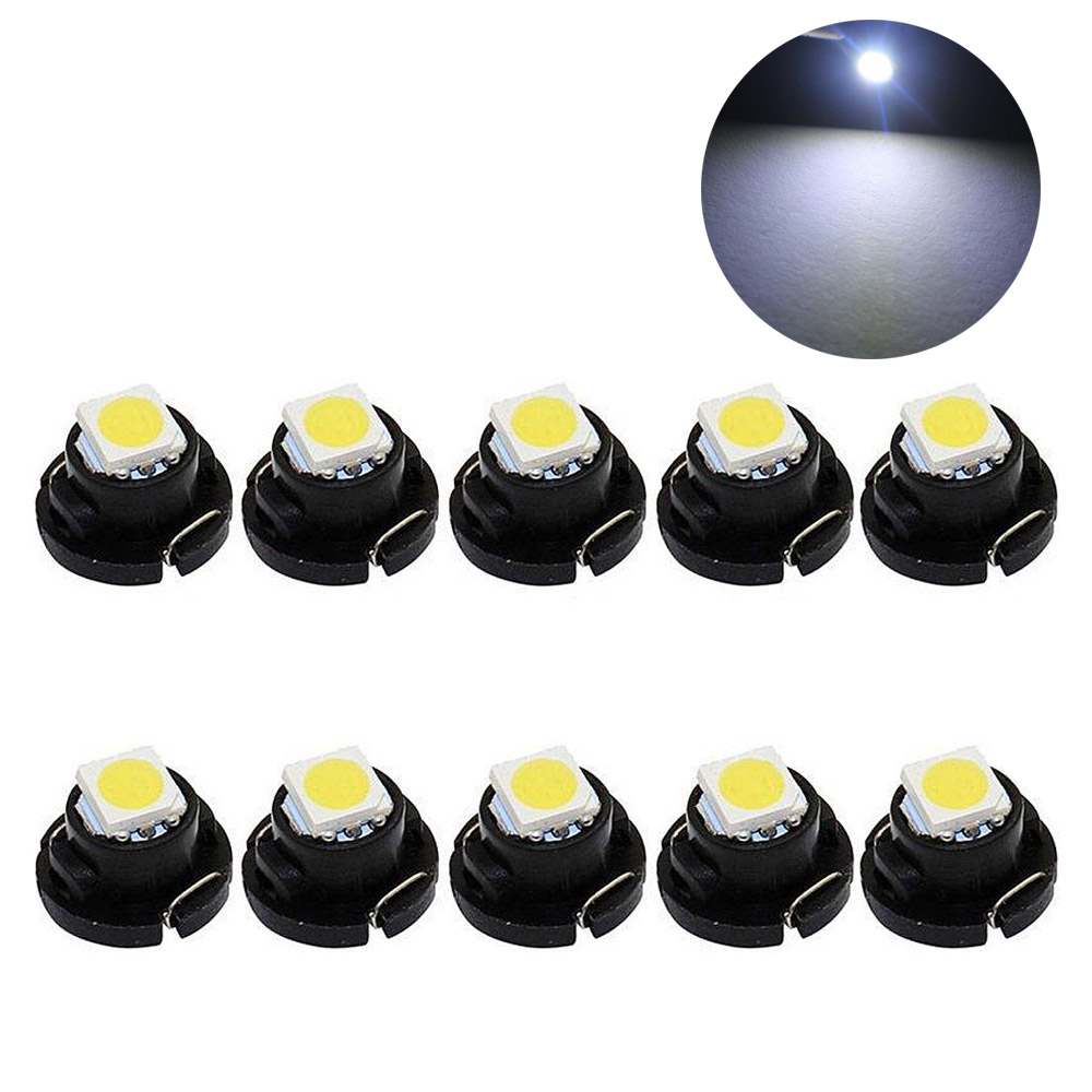 10pcs T4.2 Led SMD Car Dashboard Light Panel Speedometer Dash Light Bulbs