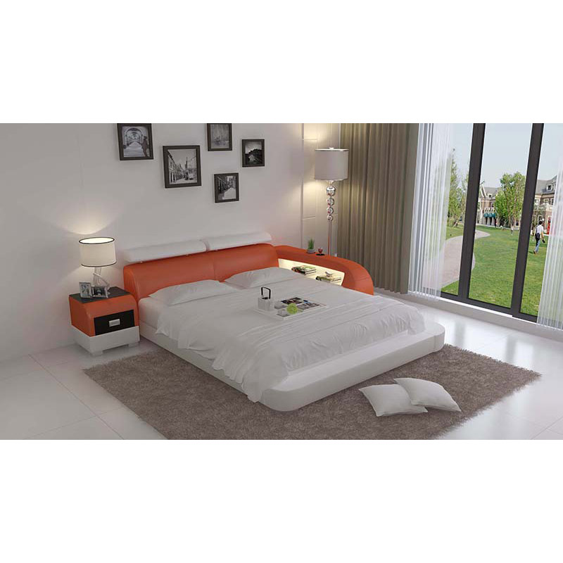Cheap Modern Bed: Chinese Cheap Modern Queen Platform Bed-in Bedroom Sets