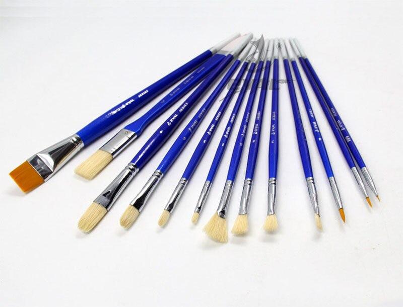 12 piezas Pincel de dibujo Conjunto de pluma Art Gouache Agua Color Aceite Pintura de acr/ílico Suministros Herramientas Kits para amantes del arte #1 Pinceles para pintar