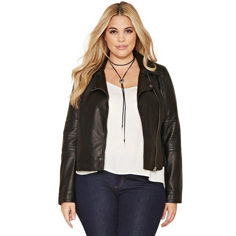 2018 Plus Size Women Solid Black Zipper Bomber Jacket Casual Ladies Long Sleeve Shaping Coat Autumn Short Jacket 3XL 4XL 5XL